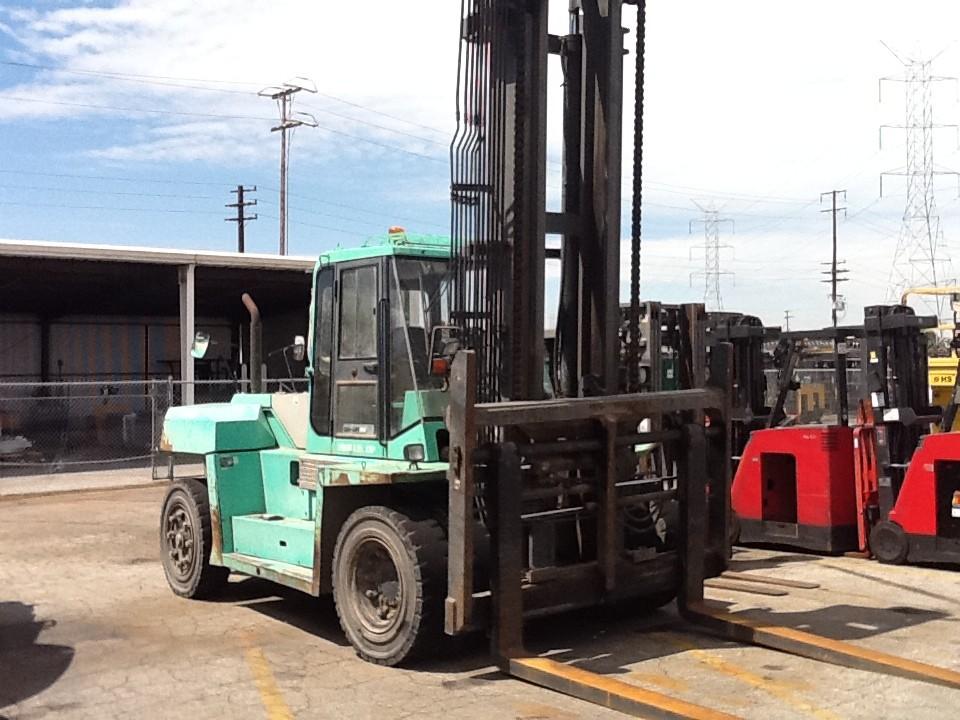 Mitsubishi FD150 Diesel Pneumatic Forklift 2005 30,000lbs @ 15 Ton