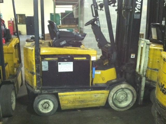 Yale ERC050 Electric 5000lb Forklift 2007 Triple Mast