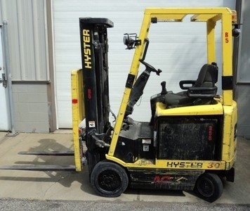 Hyster E30Z Electric 4 Wheel Sit Down Rider 3000lb Forklift 2008