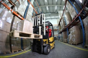 Forklift at Warehouse