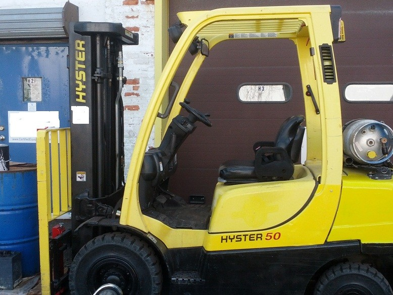 Hyster H50FT Propane Pneumatic Tire 5000lb Forklift 2008