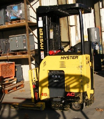 Hyster N45ZR Stand Up Rider 4500lb Electric Reach Forklift 2007