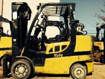 Yale GLC080VXN 4 Ton Cushion Tire Propane Forklift 2010