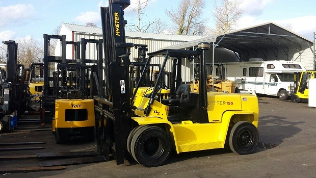 Hyster H155XL2 7.5 Ton Pneumatic Tire Propane Forklift 2005
