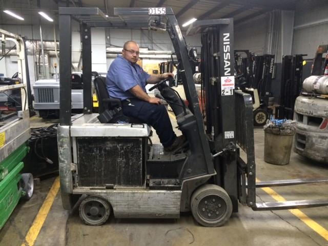 Nissan BX30 4 Wheel Sit Down Rider 3000lb Electric Forklift 2011