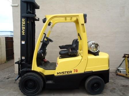 Hyster Forklifts H70FT 7000lb Pneumatic Tire Propane Forklift 2006