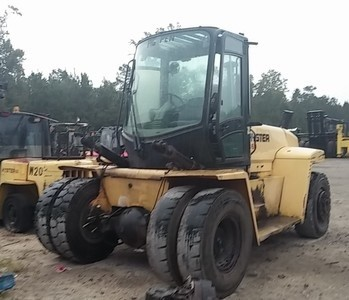 Hyster Forklifts H360HD 18 Ton 36000lb Diesel Pneumatic Tire Forklift 2003