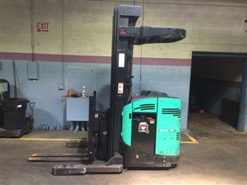 Mitsubishi Forklifts EDR15N 3000lb Electric Rider Double Reach Forklift 2008