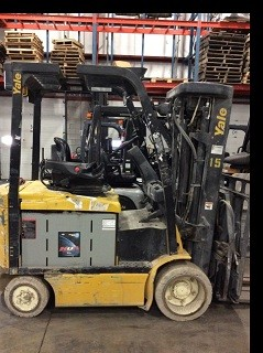 Yale Forklifts ERC060 6000lb 3 Ton Electric Forklift Quad Mast 2011