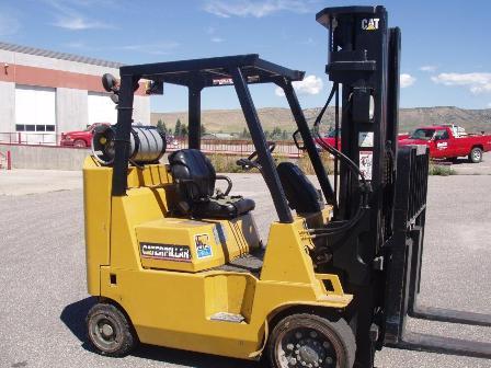Caterpillar Forklifts GC40KS 8000lb Cushion Tire Short Wheel Base Propane Forklift 2004
