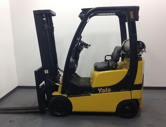Yale Forklifts GLC030VX Cushion Solid Tire 3000lb Propane Forklift 2008