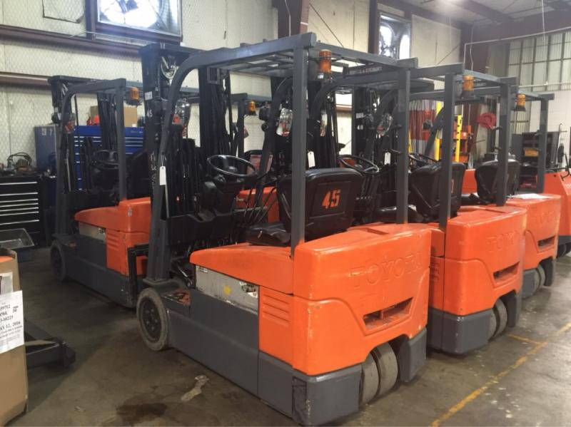 Toyota Forklifts 7FBEU20 3-Wheel Electric Sit Down Rider Forklift 2010