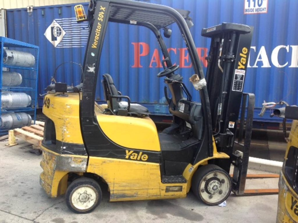 Yale Forklifts GLC050VX 5000lb Solid/Cushion Tire Propane Forklift 2012