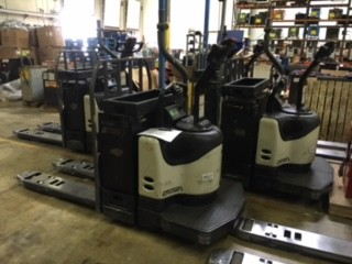 Crown Forklifts PE4500-60 Electric Walk Behind Rider 6000lb Pallet Trucks 2013