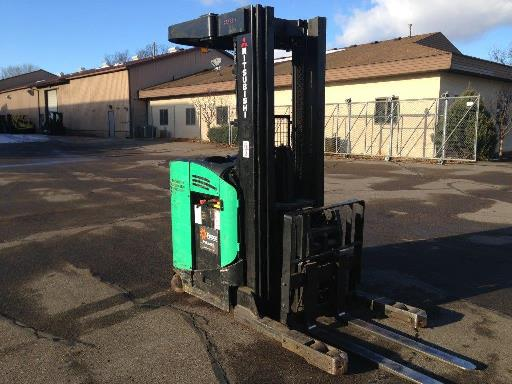 Mitsubishi Forklifts EDR15N-36v Electric 3000lb Stand Up Rider Double Reach Forklift 2007