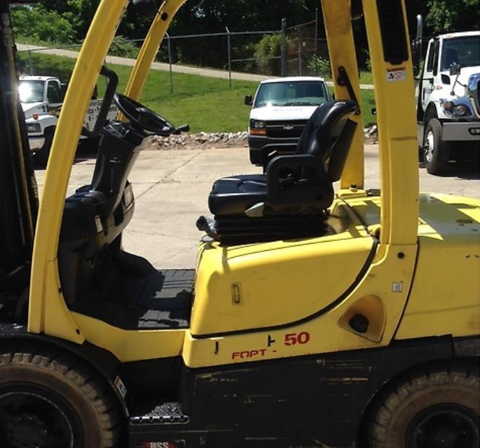 Hyster Forklifts H50FT 5000lb Pneumatic Tire Diesel Forklift 2013