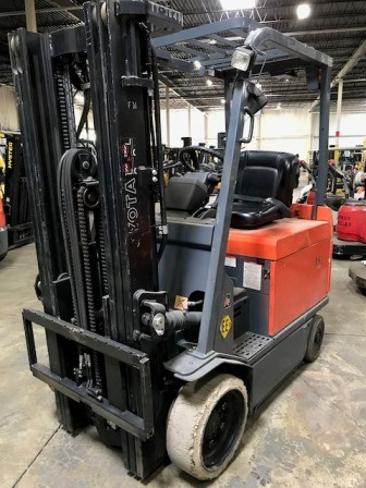 Toyota Forklifts 30-7FBCHU25 EE Rated 5000lb Sit Down Rider 4 Wheel Forklift 2009