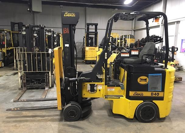 Bendi Forklifts B40/48E180D Articulating 4000lb Sit Down Rider Very Narrow Aisle Side Loading Forklift 2003