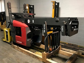 Raymond Forklifts 740DR32TT Electric Stand Up Rider 3200lb Double Reach Forklift 2005