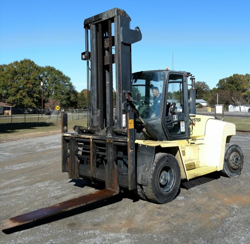 Hyster Forklifts H300HD Diesel Fuel 15 Ton 30,000lb Pneumatic Tire Outdoor Forklift 2008