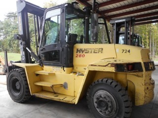 Hyster Forklifts H280HD Diesel Engine Pneumatic Tire 14 Ton 28,000lb Outdoor Forklift 2006
