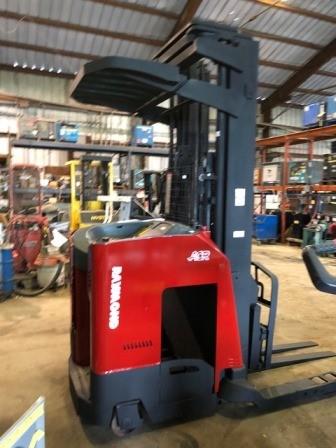 Raymond 740DR32TT narrow aisle 3200lb electric double reach forklift