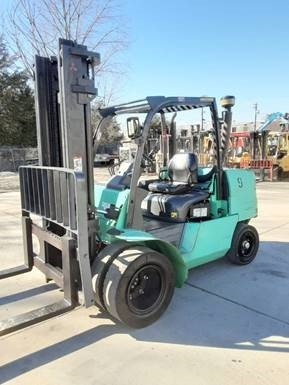Mitsubishi FD50 5 ton 10,000lb pneumatic dual tire diesel engine forklift