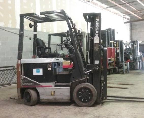 Nissan MCP1B2L20S electric 4 wheel sit down rider 4000lb warehouse forklift