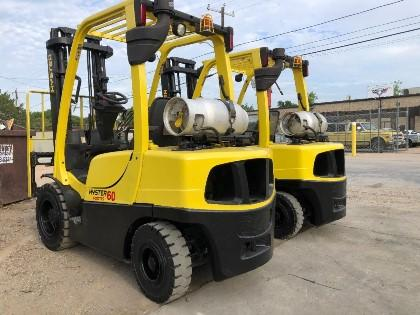 Hyster H60FT pneumatic tire propane fuel 6000lb outdoor forklifts.
