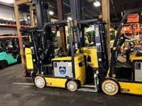 Yale ERC030VA electric 4 wheel sit down rider 3000lb warehouse forklifts