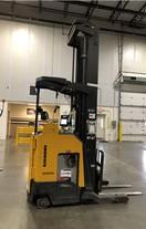 Raymond 740R45TT electric narrow aisle 4500lb stand up rider reach truck