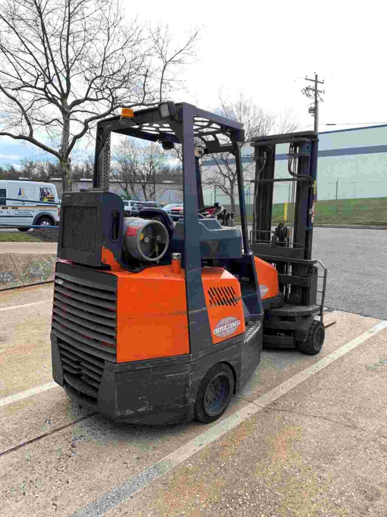 AisleMaster 44S 4400lb very narrow aisle, articulating, side loading warehouse forklift on LP gas