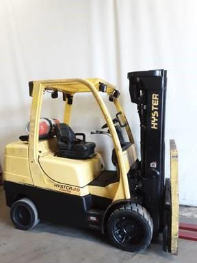 Hyster S80FT cushion solid tire 8000lb propane fuel warehouse forklift