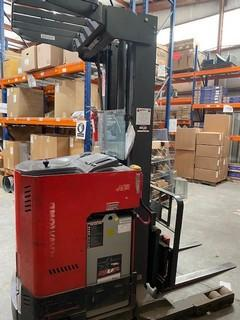 Raymond EasiR30TT electric narrow aisle stand up rider 3000lb reach forklift