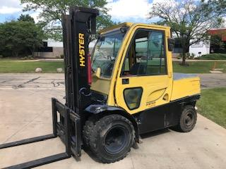 Hyster H120FT 6 ton 12,000lb diesel fuel dual tire outdoor forklift