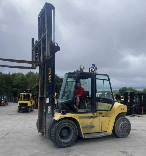 Hyster H280HD2 pneumatic tire 14 ton 28,000lb diesel fuel outdoor forklift