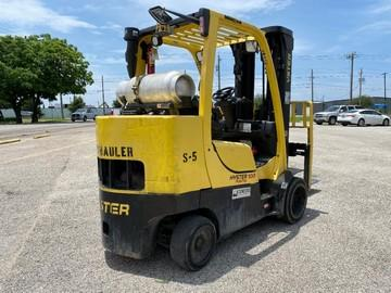 Hyster S100FTBCS propane fuel 5 ton 10,000lb cushion solid tire warehouse forklifts