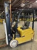 Yale ERP040VT narrow aisle electric 4000lb sit down rider 3 wheel warehouse forklift