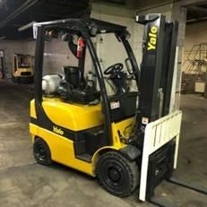 Yale GLP040SVX pneumatic tire small chassis 4000lb propane fuel outdoor forklifts