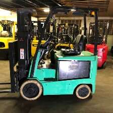 Mitsubishi FBC25N2 electric EE rated 5000lb sit down rider warehouse forklift