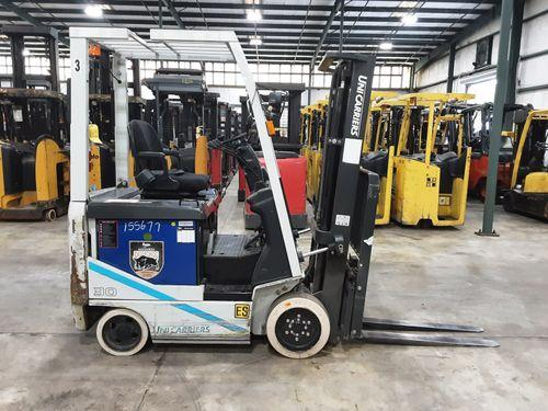 Nissan UniCarriers MCJ1B1L15S electric 3000lb 4 wheel sit down rider warehouse forklift