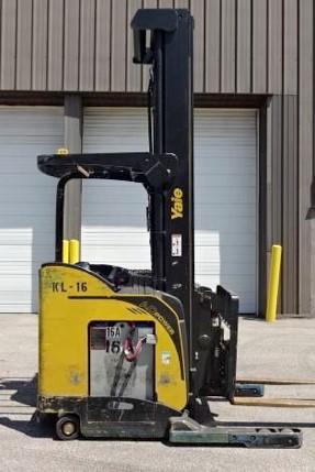 Yale NDR030EBN narrow aisle 3000lb electric stand up rider double reach forklifts